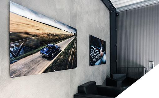 Exklusive Wandbilder von Mustang und Corvette für Ihr zu Hause vom V8 Werk (Pirna bei Dresden).